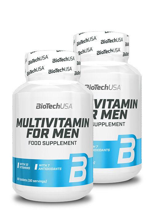 Biotech USA Multivitamin for Men 60 Tabletten 2er Pack